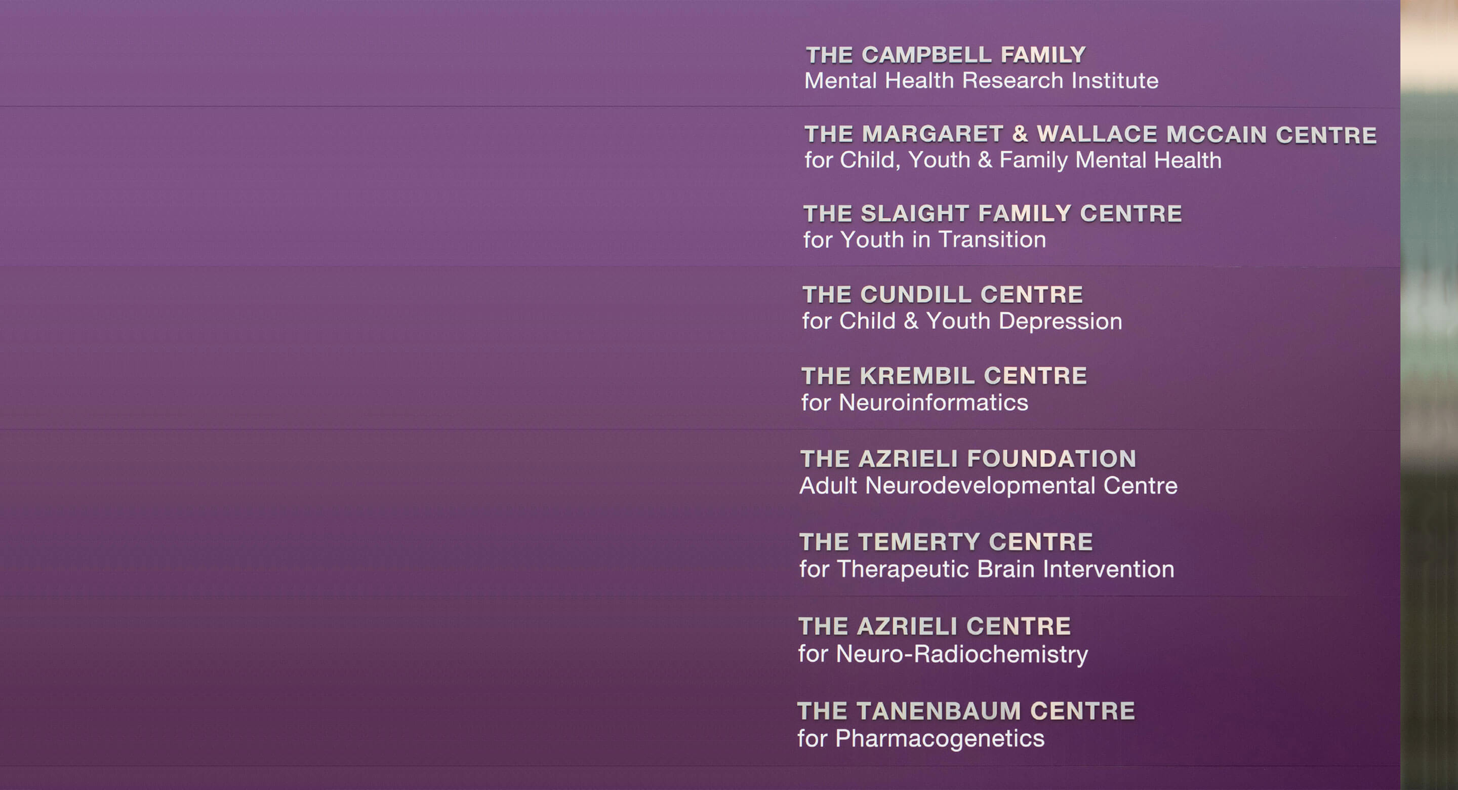 CAMH donors