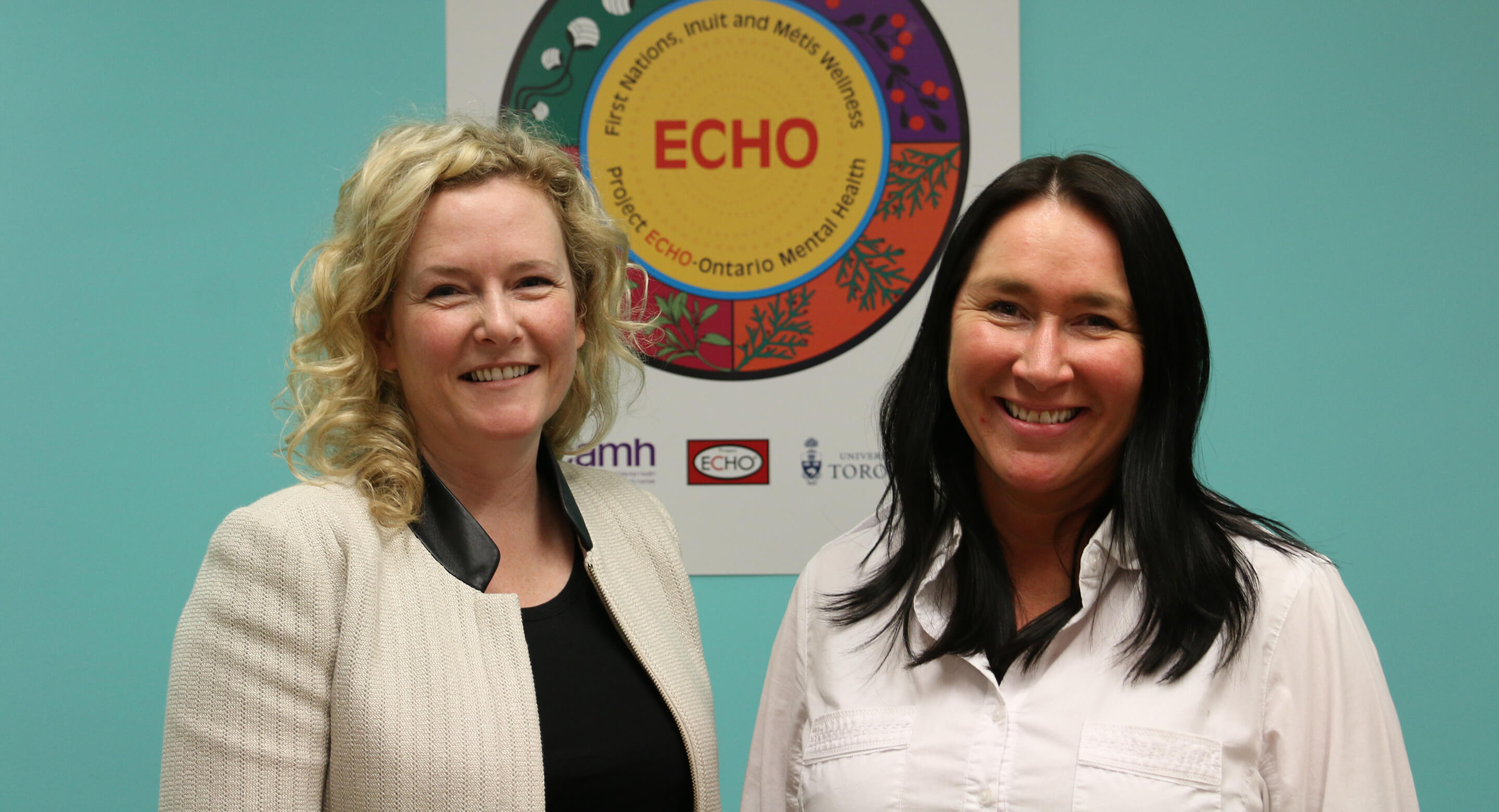 Dr. Allison Crawford and Dr. Renee Linklater co-lead the ECHO Ontario First Nations, Inuit and Métis Wellness