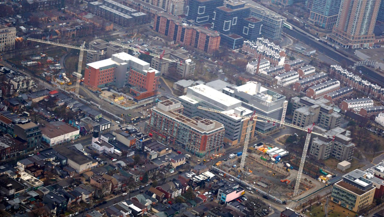 Queen Street Site Redevelopment - Bird's eye view of Phase 1C Construction in May 2018
