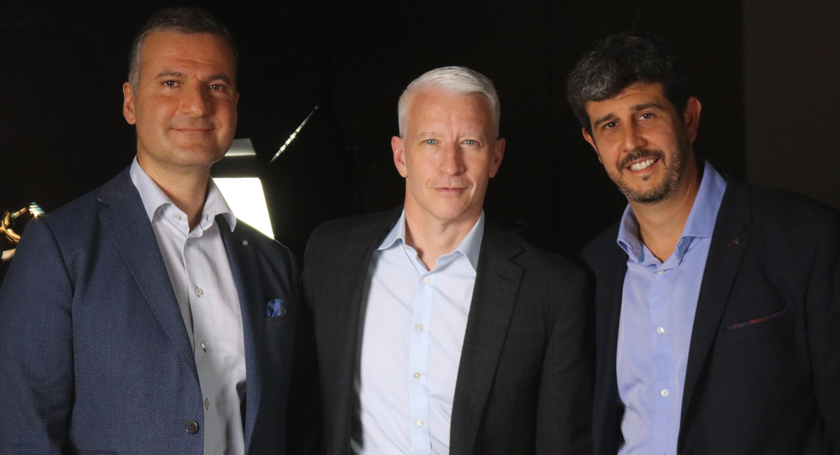 Dr. Jeff Daskalakis, Anderson Cooper and Dr. Daniel Blumberger