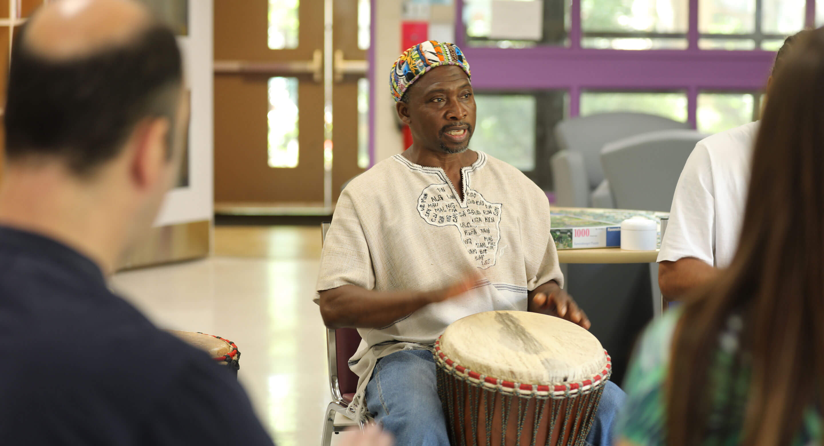 Djembe drumming session
