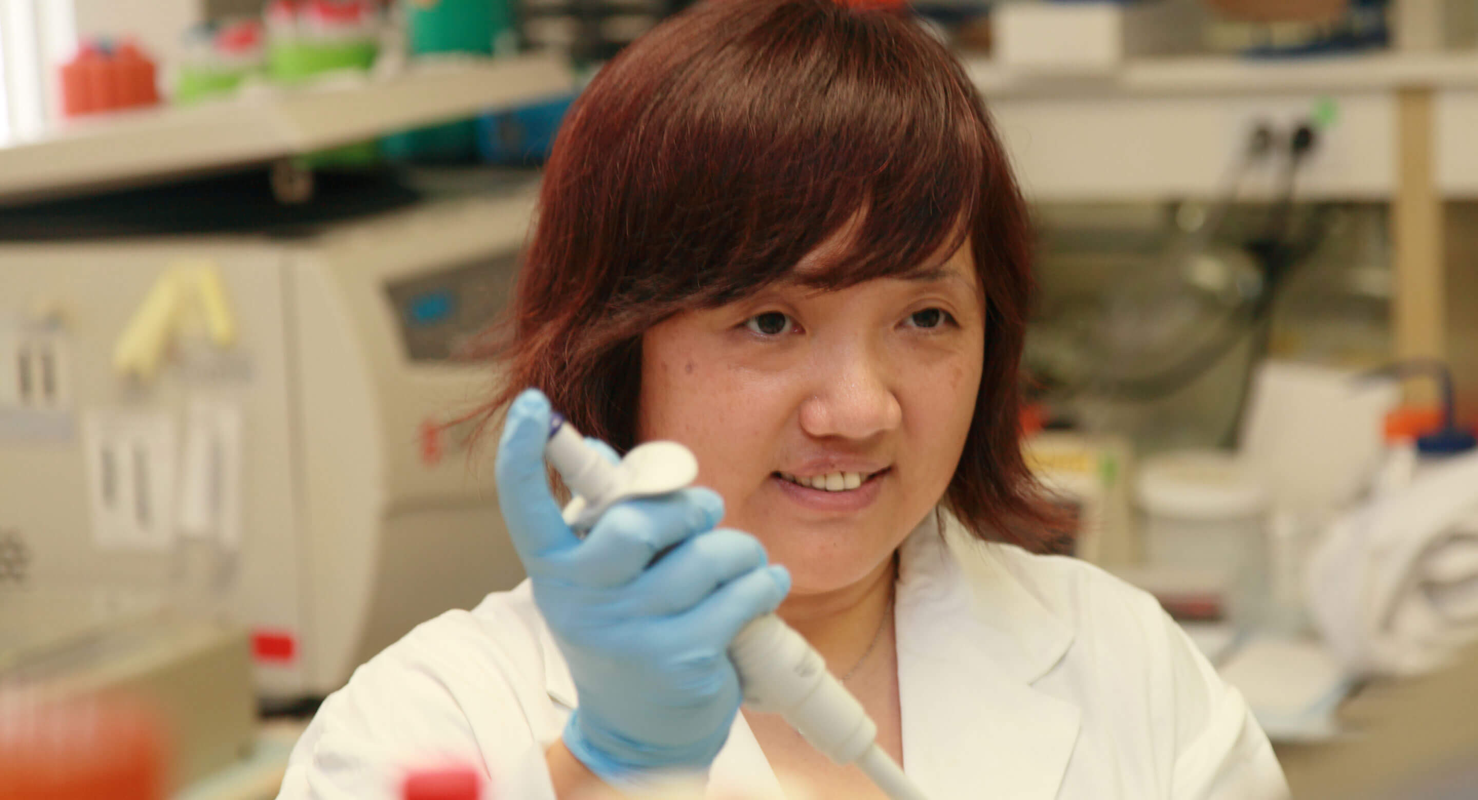 Dr. Fang Liu in lab