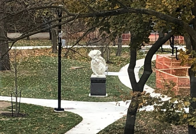 Squirrel statue at TD Commons
