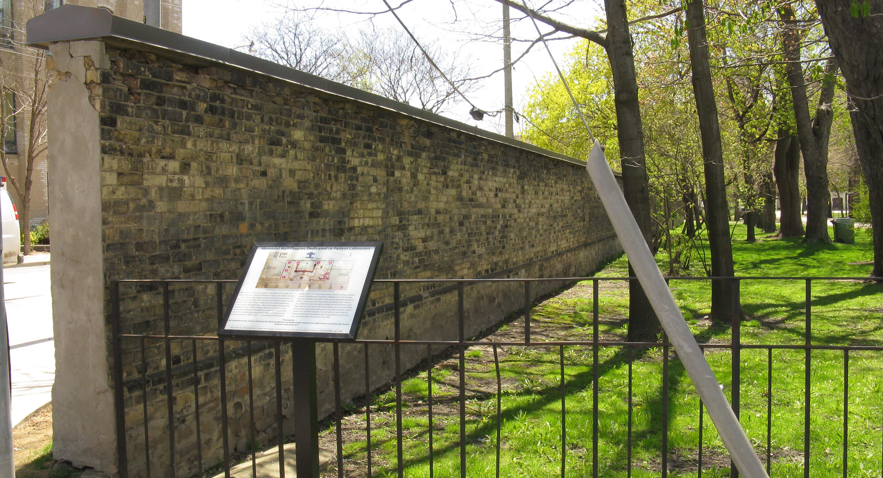 Historic wall and plaque