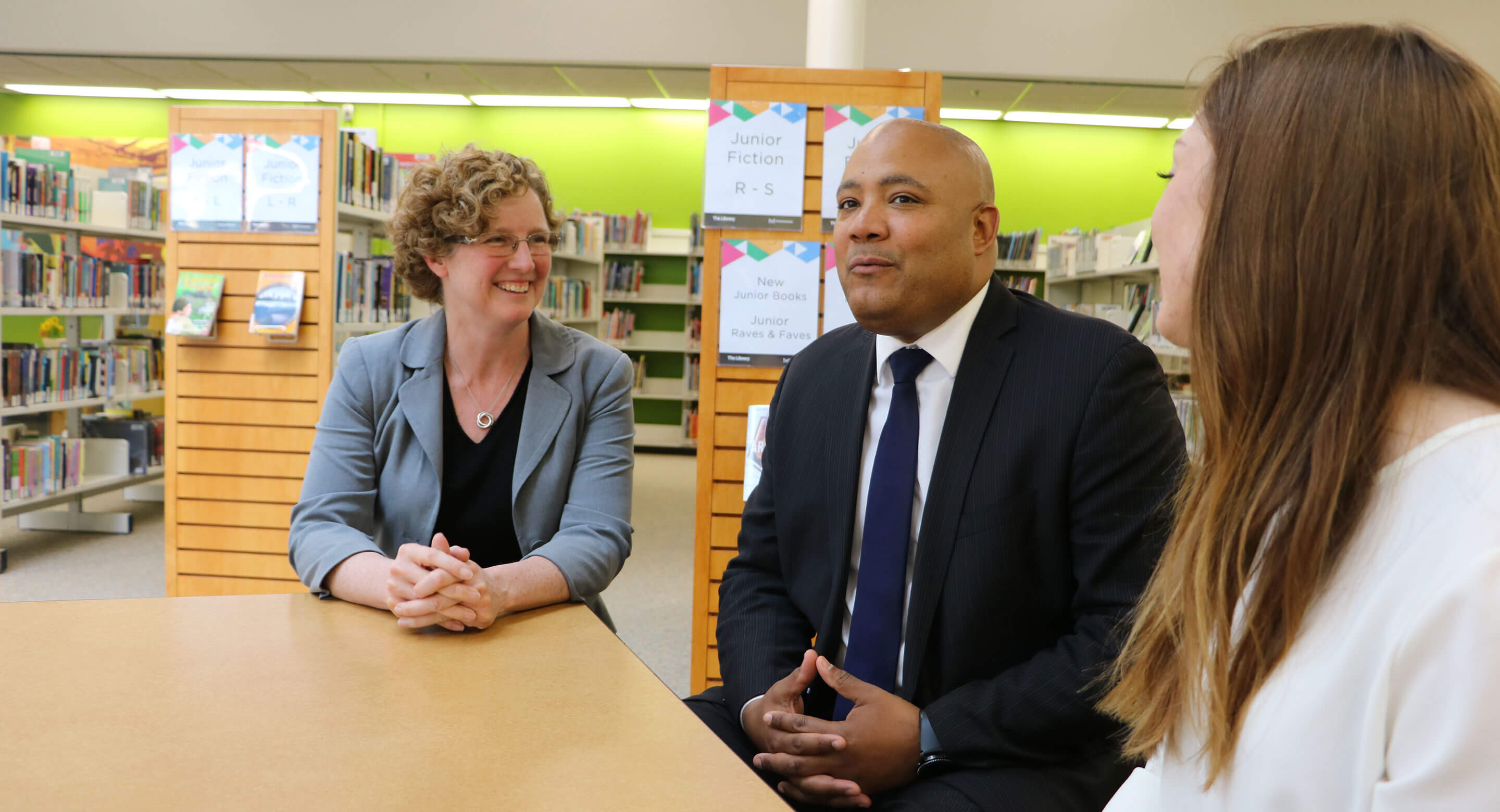Dr. Joanna Henderson, Michael Coteau, Minister of Children and Youth Services, and Emma McCann chat about youth mental health