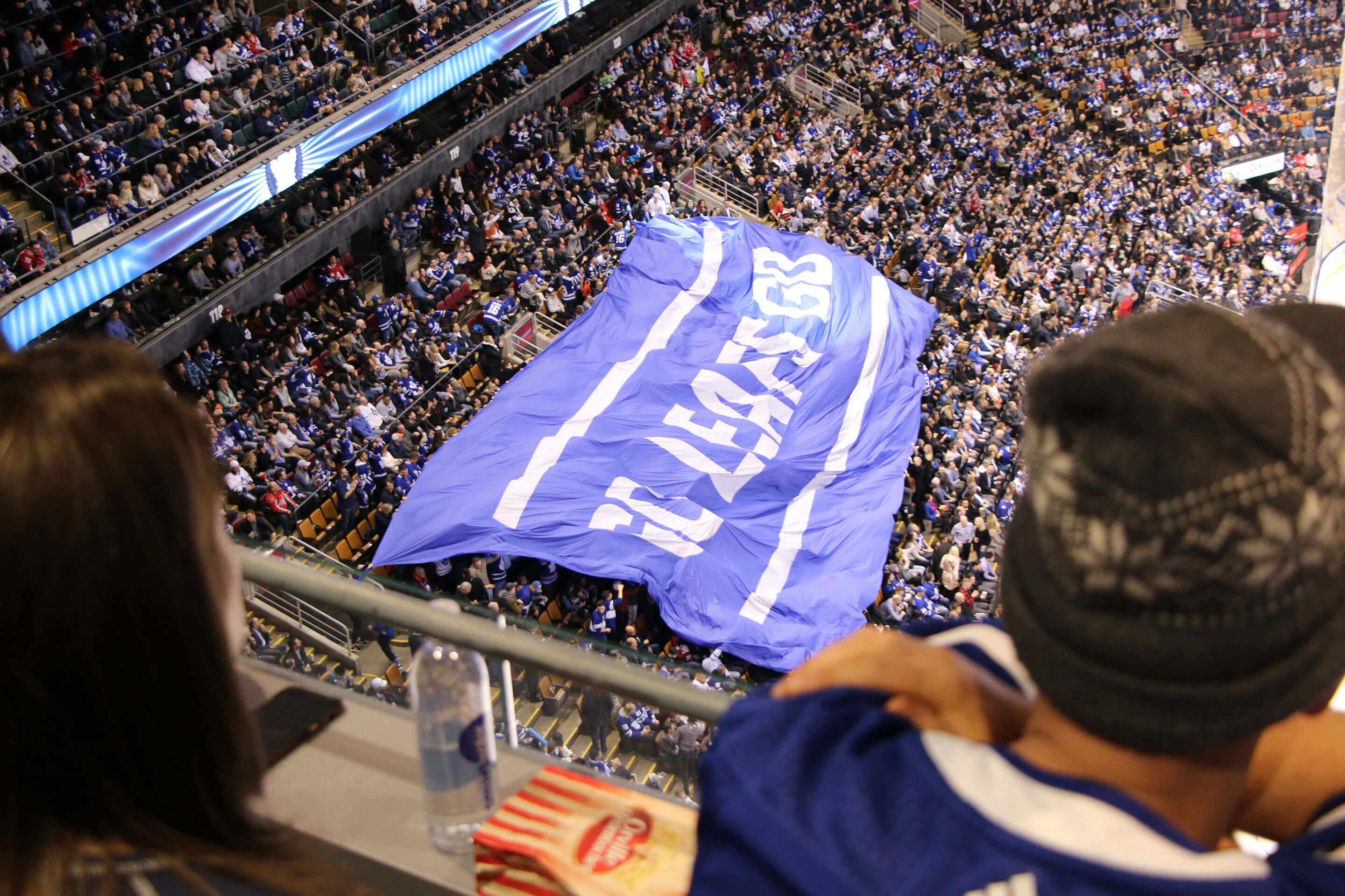 Toronto Maple Leafs fans during hockey game