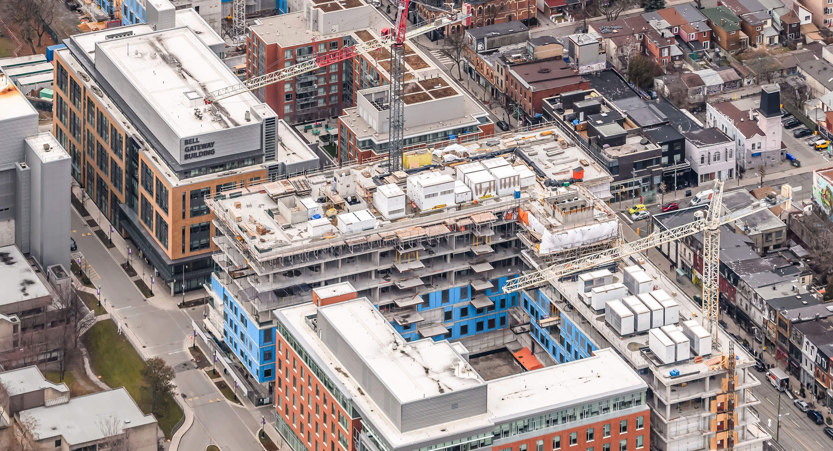 Aerial shot Redevelopment Update February 2019