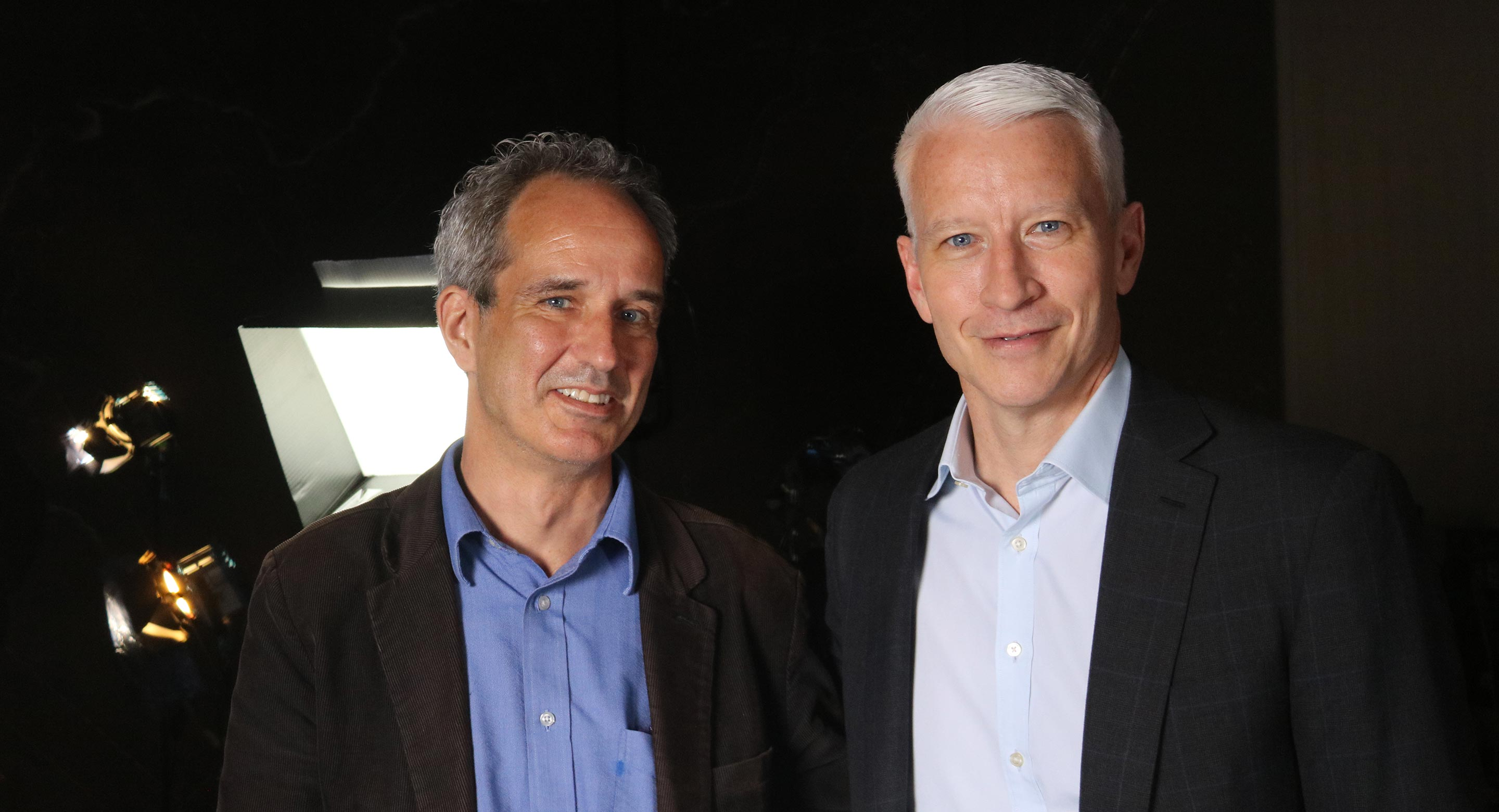 CAMH Senior Media Relations Specialist Sean O'Malley and Anderson Cooper