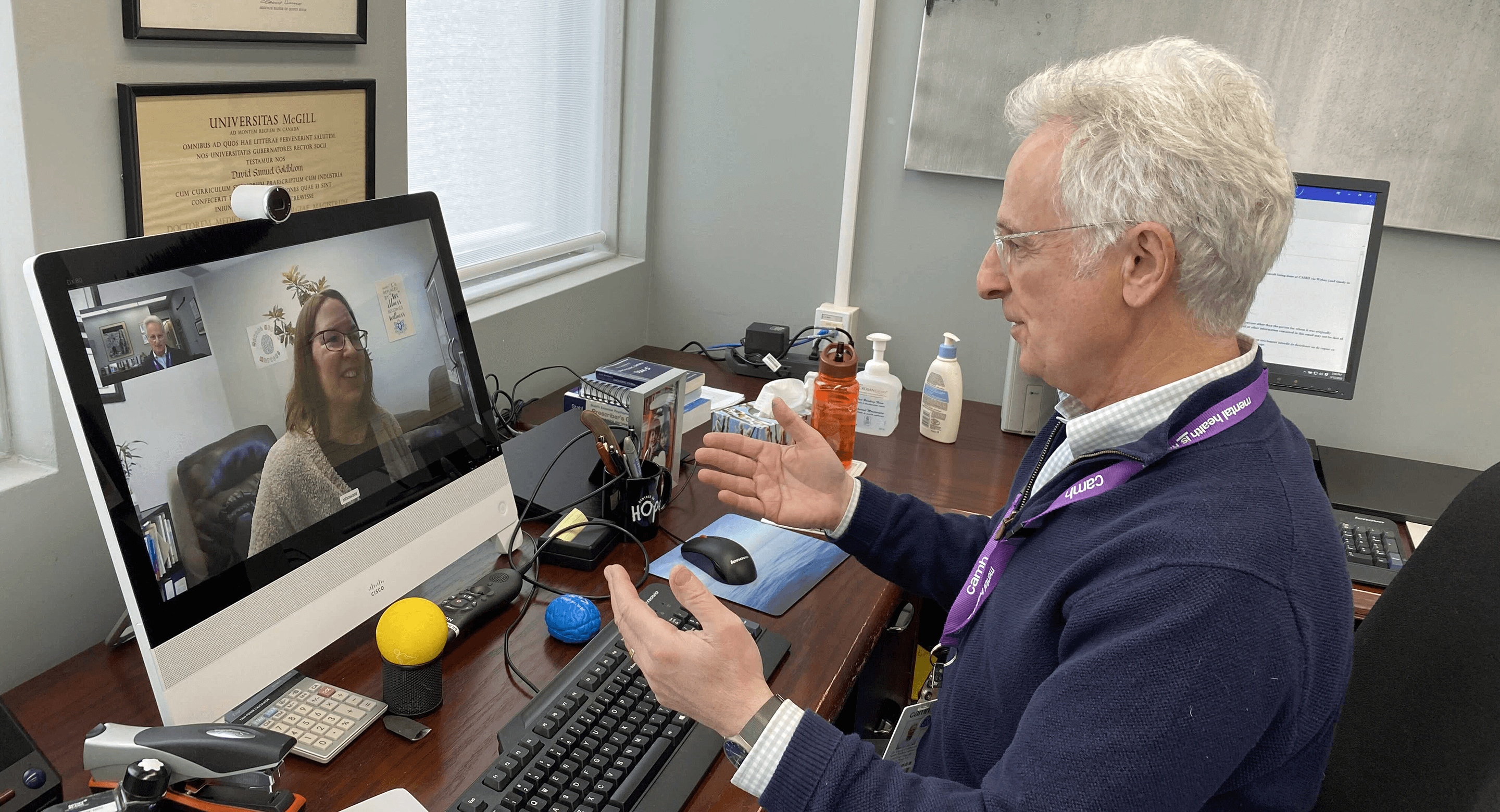 CAMH physician providing virtual care.