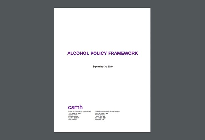 Alcohol Policy Paper cover