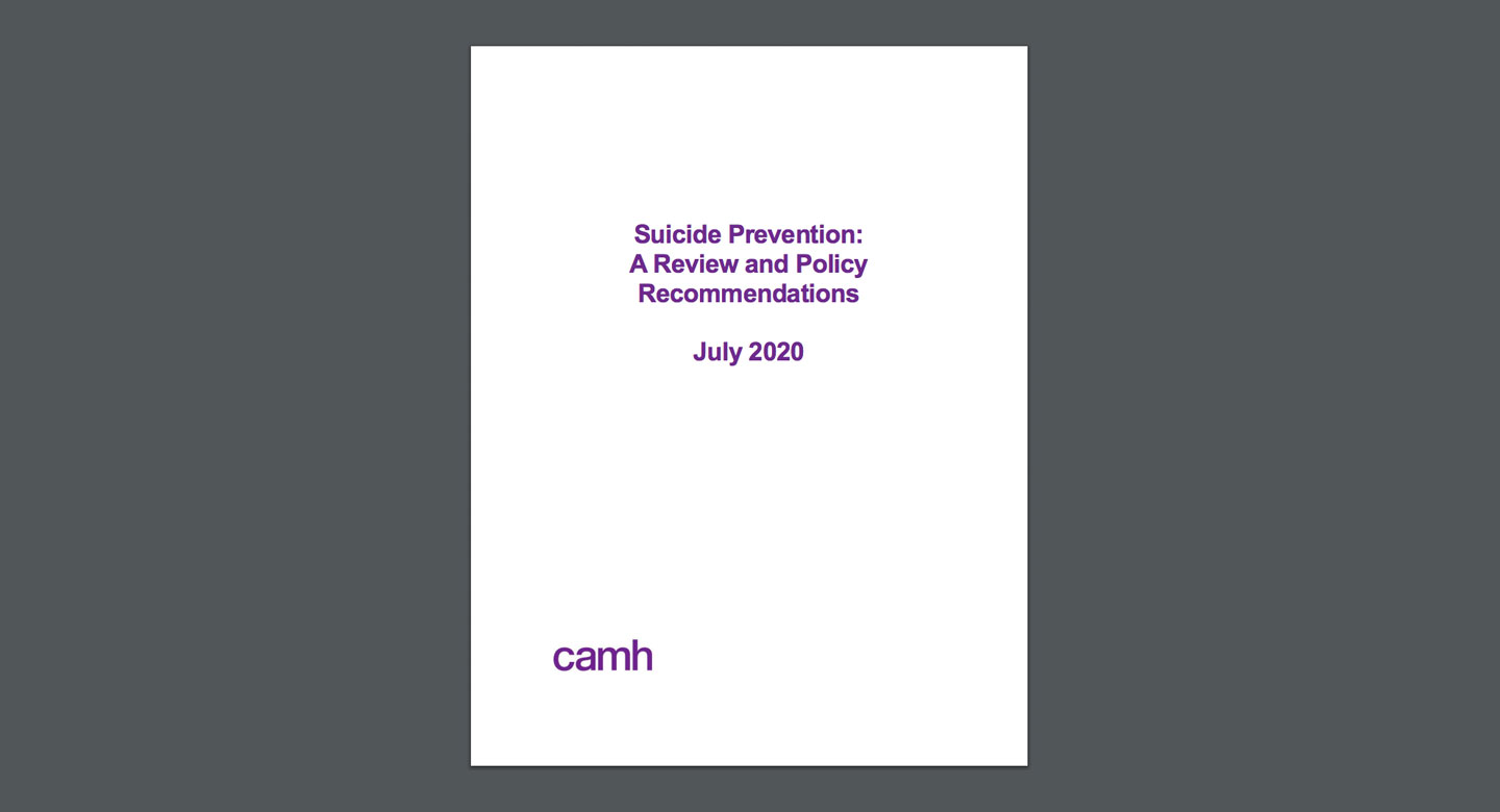 Suicide Policy Paper cover