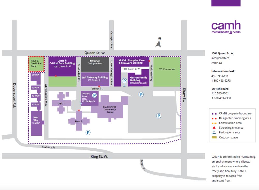 U O F T Campus Map.Visiting Camh Camh