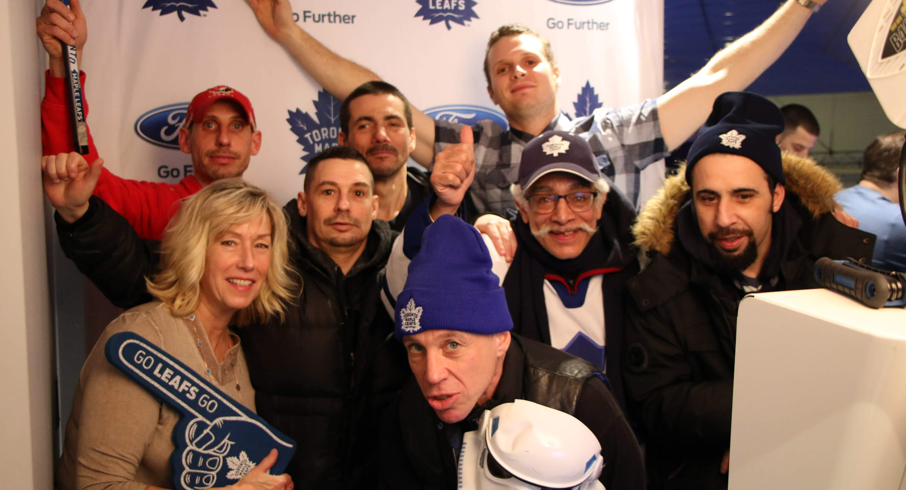 CAMH clients ham it up at the Ford Fan Deck