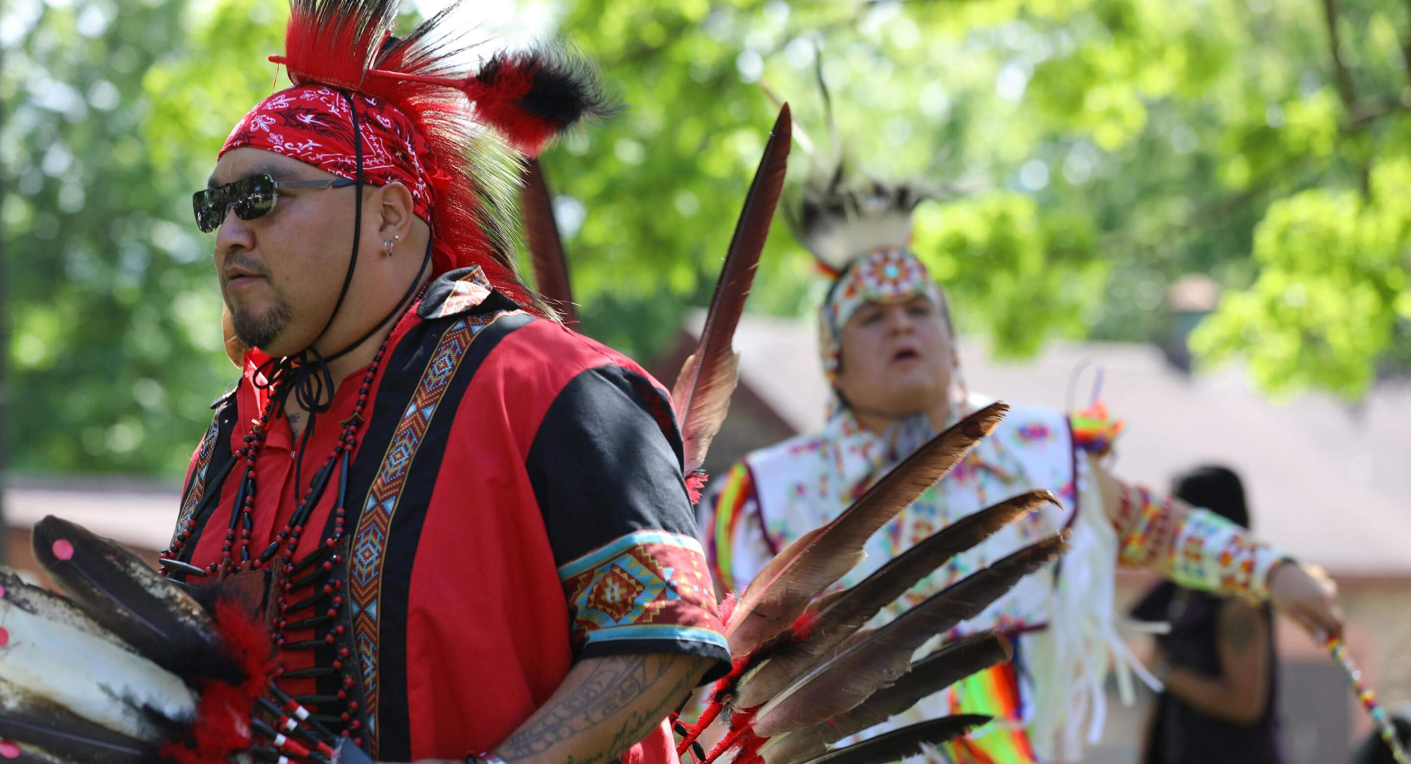 The Pow Wow featured traditional drum groups and dancers